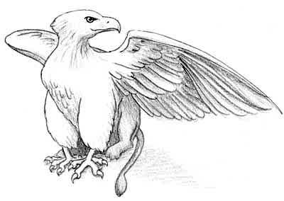 How to draw a griffin draw fluffy for Dementor coloring pages