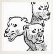 How to draw Fluffy. the three-headed dog from Harry Potter
